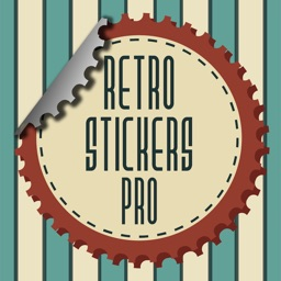 Retro - vintage stickers and labels for photos