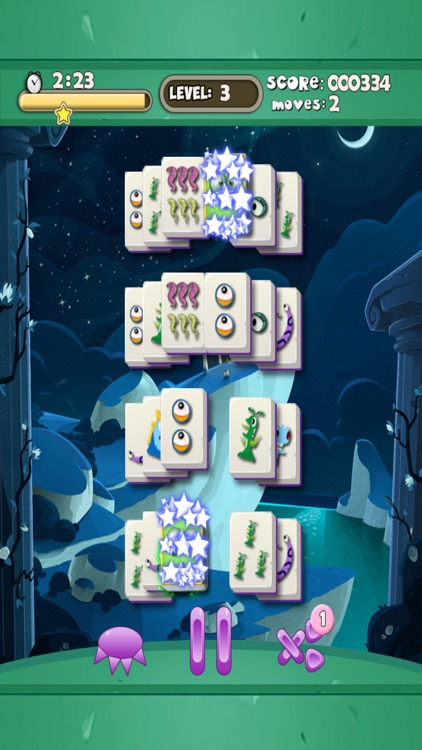 Weird Tiny Monster Mahjong Free - Addicting Chinese tile-matching board game screenshot-3