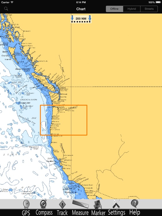 Oregon GPS Nautical Charts Pro screenshot-4