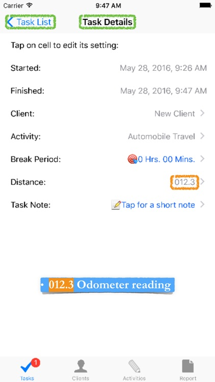 Time Travel Tracker: for recording freelance and hourly employee time and travel screenshot-4