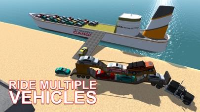 De carga transporte de automoviles nave - conducir camiones y navegar en barco grande en este juego de simulaciónCaptura de pantalla de1
