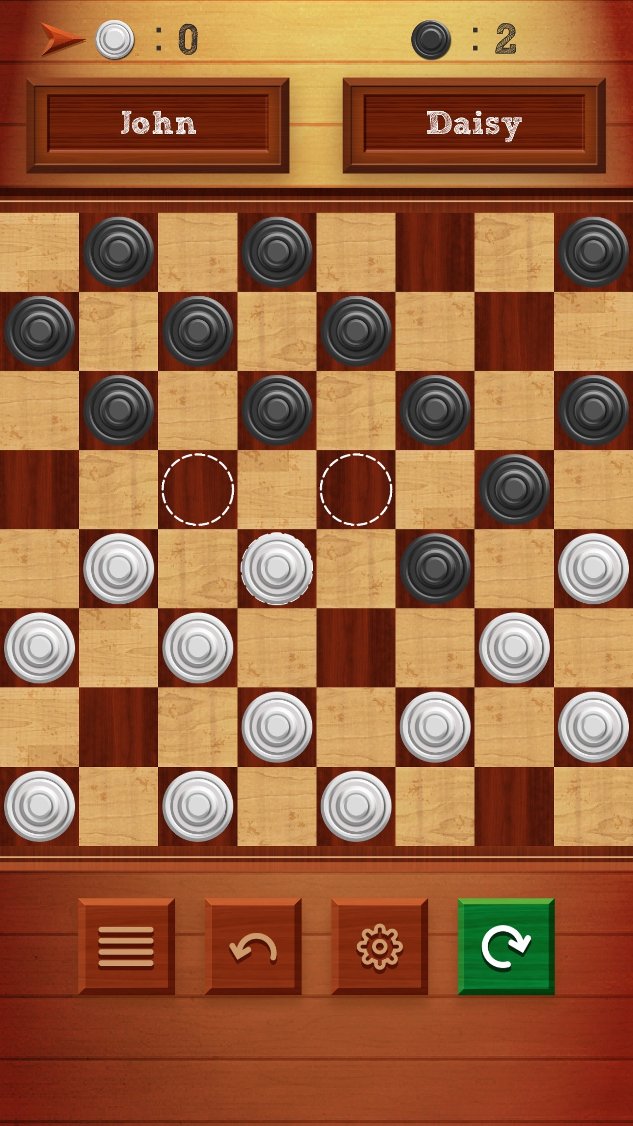 Checkers Classic Online - Multiplayer 2 Players Screenshot
