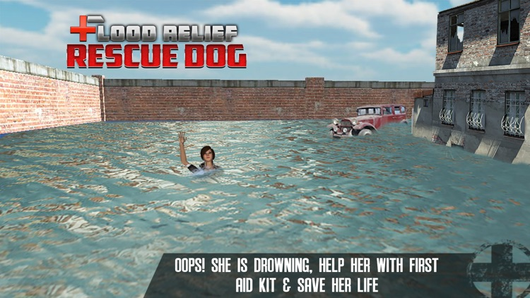 Flood Relief Rescue Dog : Save stuck people lives screenshot-3