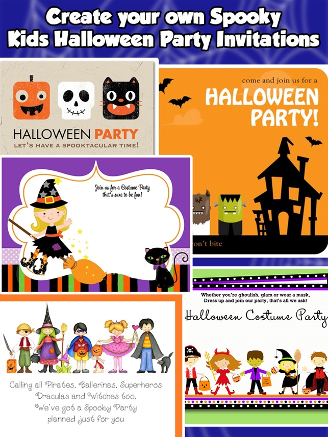 Halloween Invitations For kids on the App Store