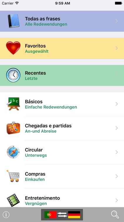 Portuguese / German Talking Phrasebook Translator Dictionary - Multiphrasebook screenshot-0