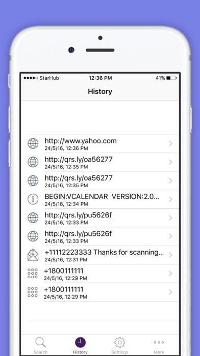 QR Code Reader Barcode Scanner screenshot three