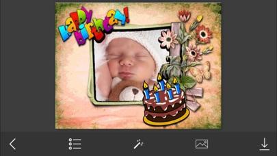 Birthday Photo Frame - Make Awesome Photo using beautiful Photo Frames screenshot two