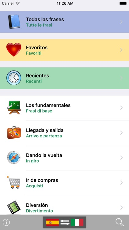 Spanish / Italian Talking Phrasebook Translator Dictionary - Multiphrasebook screenshot-0