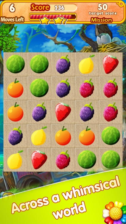 Stick Fruit Line: Match3 Free