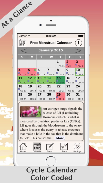 Free Menstrual Calendar For Periods and Ovulations