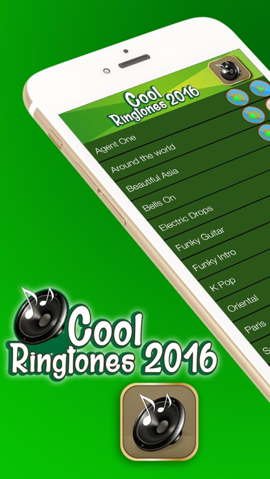 Cool Ringtones 2016 – Free Collection of Sound Effects and Text Tone.s Maker for iPhone screenshot one