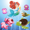 Meerjungfrauen und Fische für Kleinkinder und Kinder: Entdecken Sie den Ozean ! Spiele für Kinder und kleine Mädchen