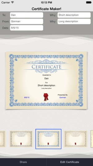 Certificate Maker On The App Store