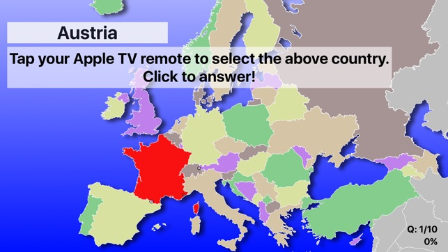Europe map quiz on the app store apple tv screenshots gumiabroncs Gallery