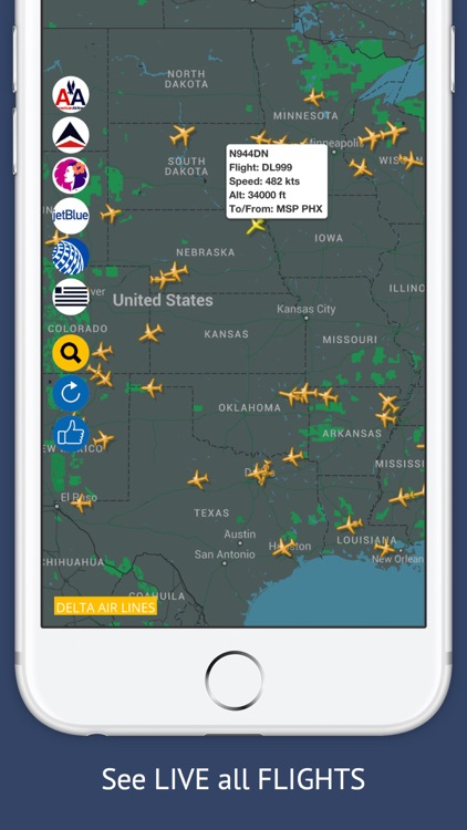 USA Tracker Free : Live Flight Tracking & Status screenshot-1