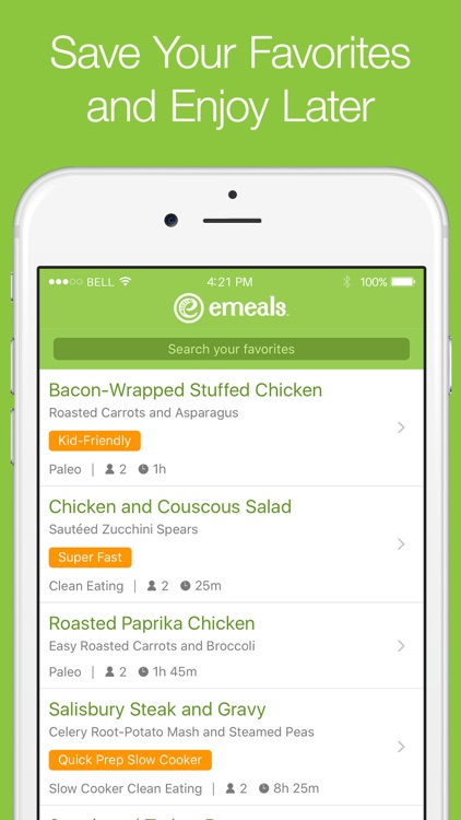 eMeals - Meal Planning and Grocery Shopping List app image