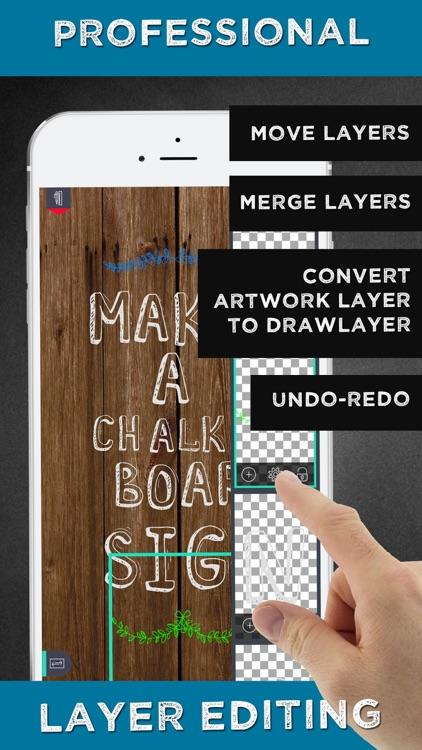 Chalkboard Signs - Chalk Graphics Creator & Poster Maker DIY screenshot-3