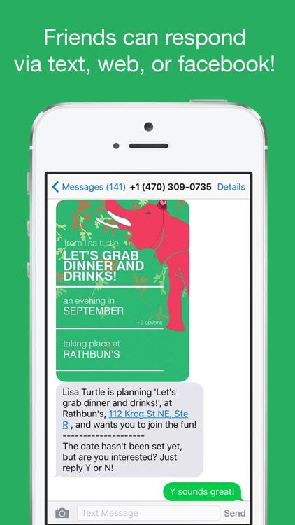 Fête: Invitations & RSVP via Text