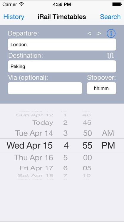 iRail European Rail Timetables screenshot-3