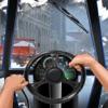 Drive Snowplow in City