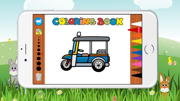 Free Car Coloring Book for Kids Game