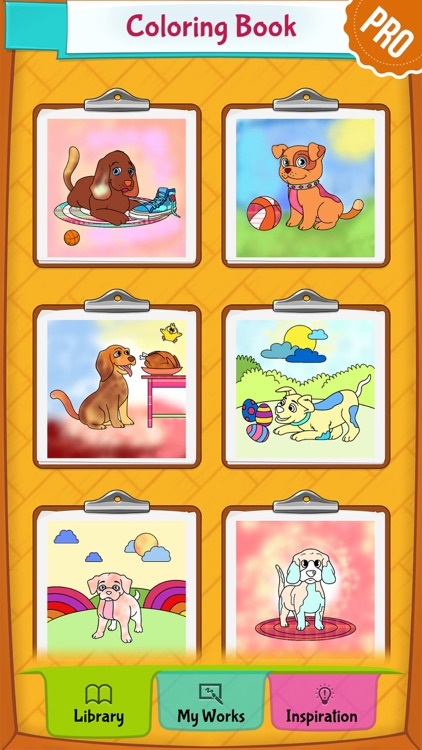 Dog Coloring Pages - Puppy Coloring Games for Boys and Girls PRO screenshot-4