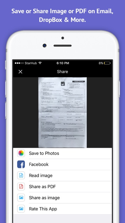 My Scanner Pro - PDF Scanner OCR & Printer for Documents, Receipts, Emails, Business Cards screenshot-3