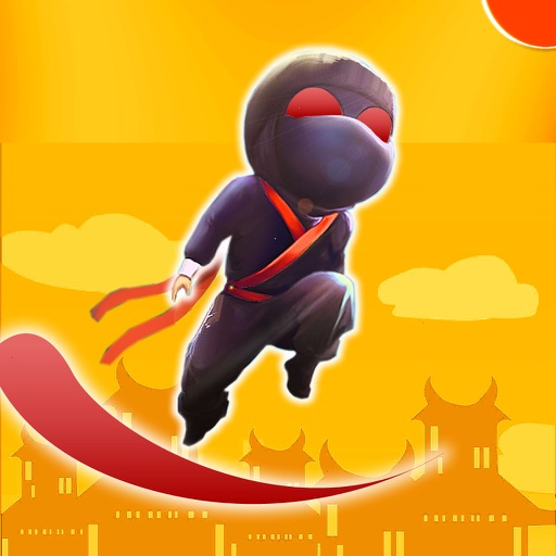 A Strong Ninja Flying - Flick Bouncing