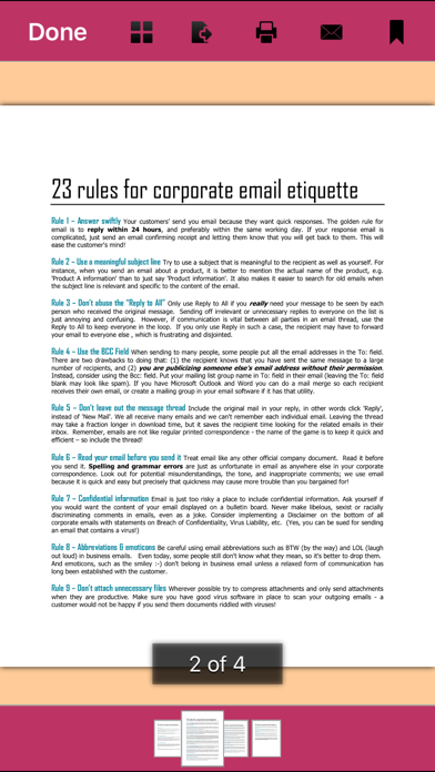 Email Etiquette - 60 Excellent Email Samples Screenshot