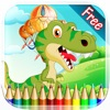 恐龙图画书HD1 - 所有在1迪诺绘画七彩虹为孩子们免费游戏