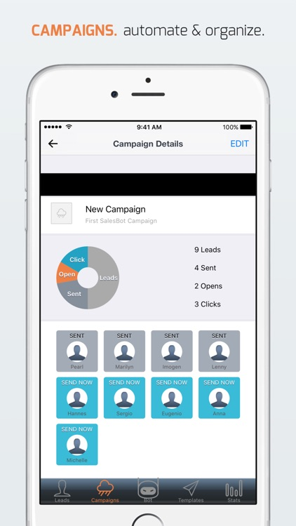 SalesBot - lead capture & email/sms drip campaigns