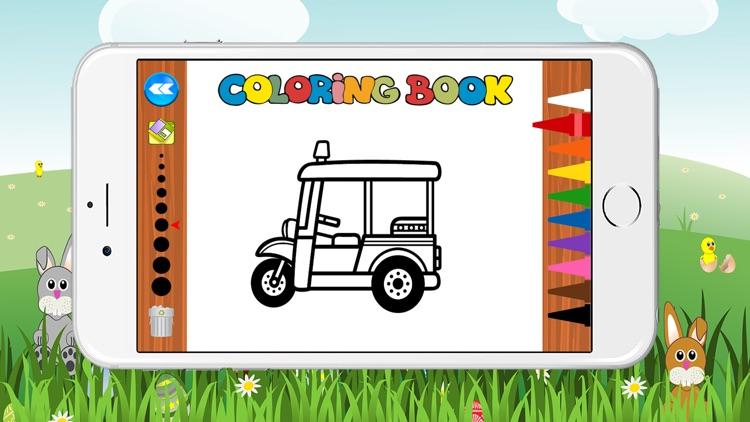 Free Car Coloring Book for Kids Game screenshot-3