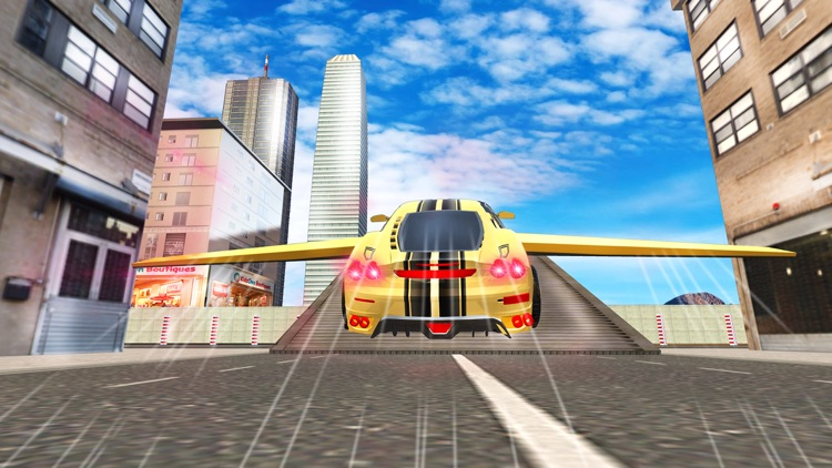 Futuristic Flying Car Drive 3D - Extreme Car Driving Simulator with Muscle Car & Airplane Flight Pilot FREE screenshot-4