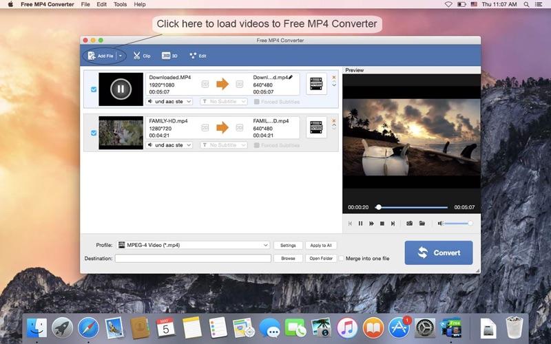 Free MP4 Converter Screenshot