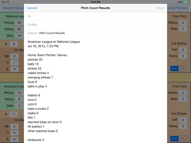 OnScreen Baseball & Softball Pitch Counter for iPad screenshot-4