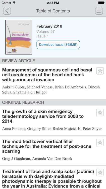Australasian Journal of Dermatology screenshot-4