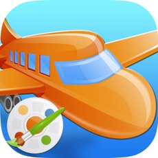 Activities of Vehicles Airplanes Trains Coloring Book : Kids Easy Paint Fun Drawing Games