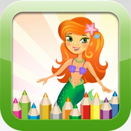 Mermaid Coloring Book - Educational Coloring Games Free ! For kids and Toddlers