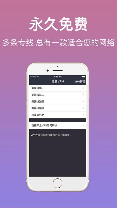 免费VPN-网络加速,免注册不限流量 Screenshot on iOS