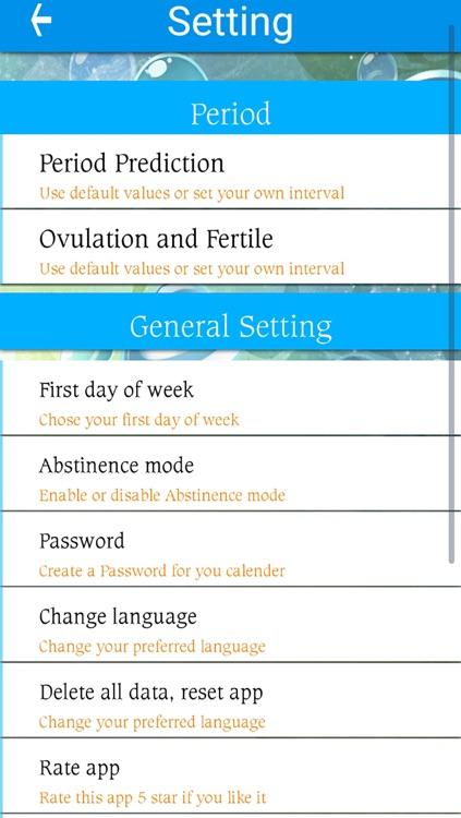 Fertility tracker, Cycle tracker