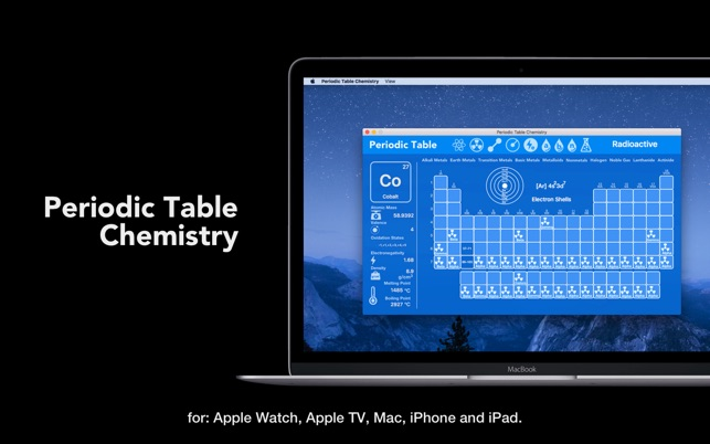 Periodic table chemistry on the mac app store screenshots urtaz Images
