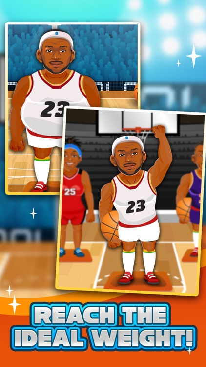 Basketball Fat to Fit Gym - real sports stars jump-ing & run shoot toss game for kids! screenshot-3