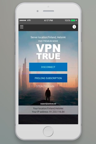 VPN TRUE - náhled