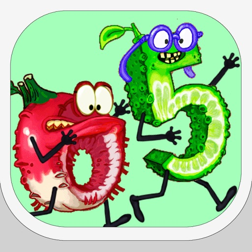 Fruits love Numbers : a healthy adventure against angry pumpkins