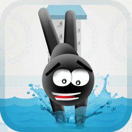 Stickman High Diving PRO - Touch, Jump & Flip!