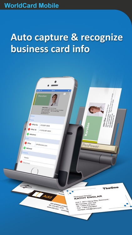 WorldCard Mobile - business card reader & scanner