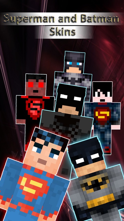 Batman & Superman Skins Collection Pro - for Minecraft Pocket Edition Lite