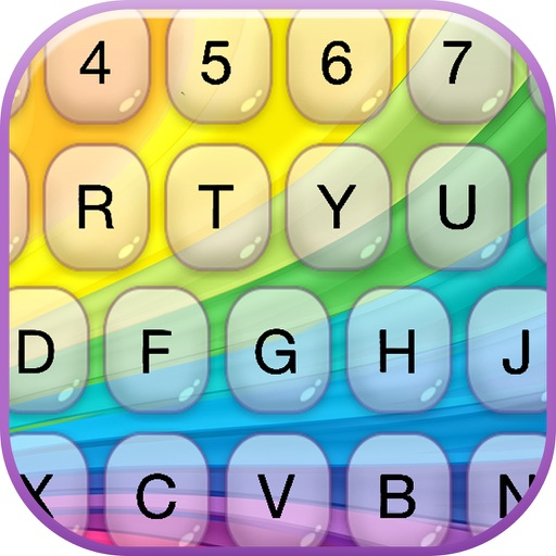 Rainbow Keyboard Skins – Fashion Keyboards with New Emojis & Color.ful Backgrounds and Fonts