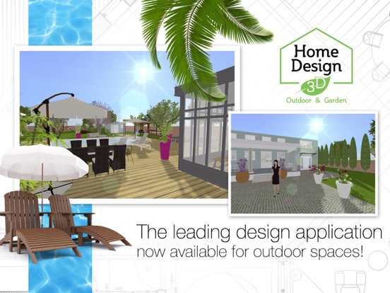 Screenshot #1 for Home Design 3D Outdoor&Garden