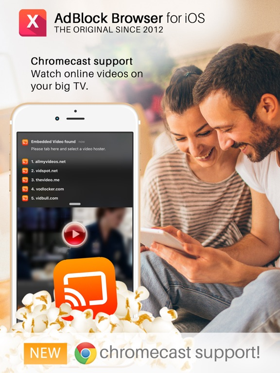 Ad-Blocker Browser with Chromecast Support - The leading Ad-Blocker Browser without any acceptable advertising system since 2012 screenshot